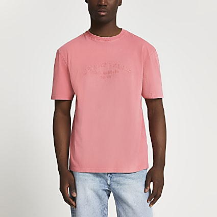 Pink L'equipe Paris' embroidered t-shirt