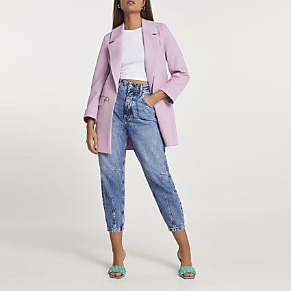 Pink long line soft blazer