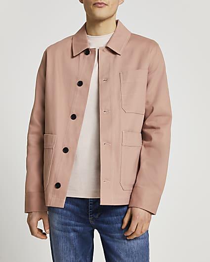 Pink long sleeve jacket