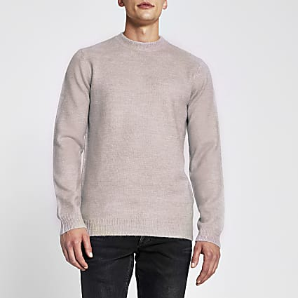 Pink long sleeve soft touch jumper