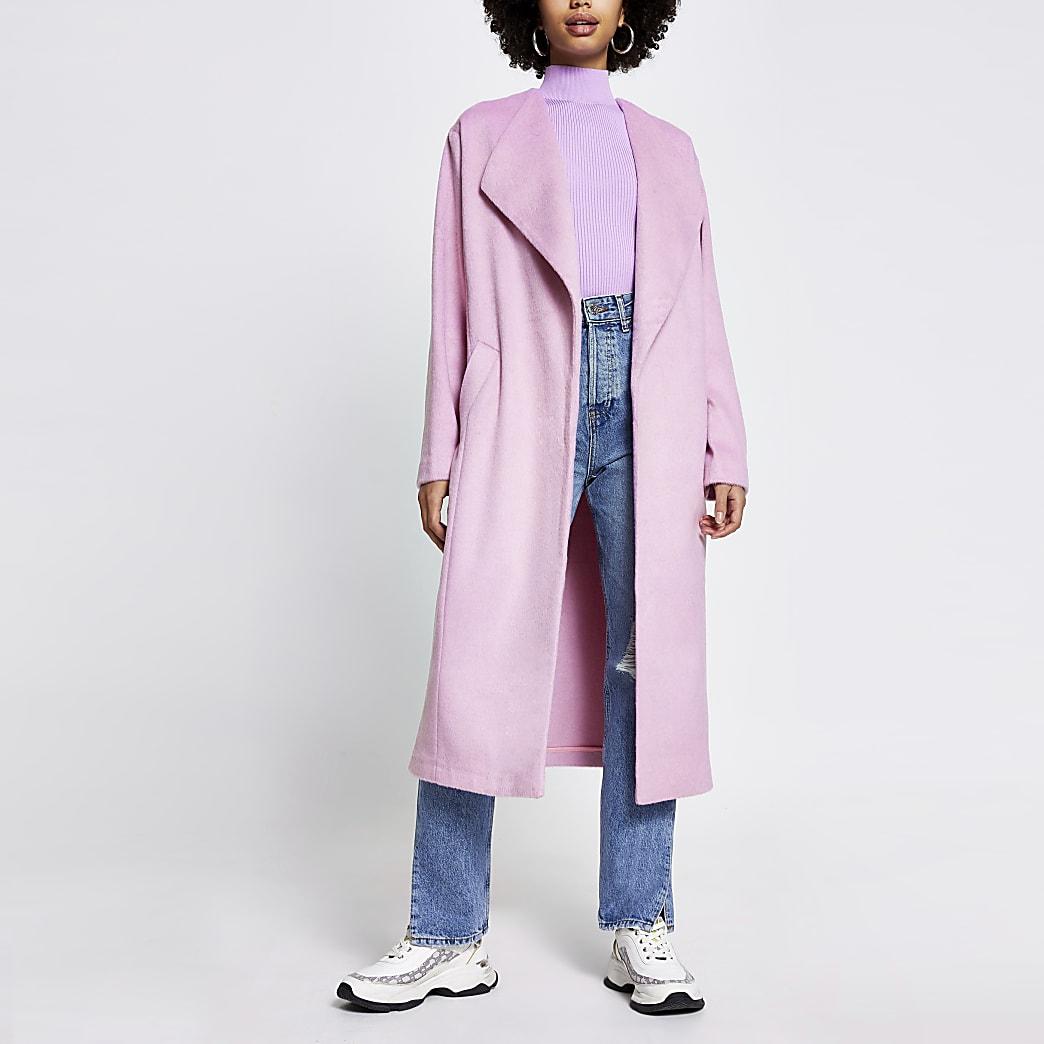 Pink longline coat