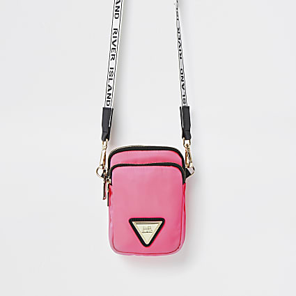 Pink mini cross body handbag