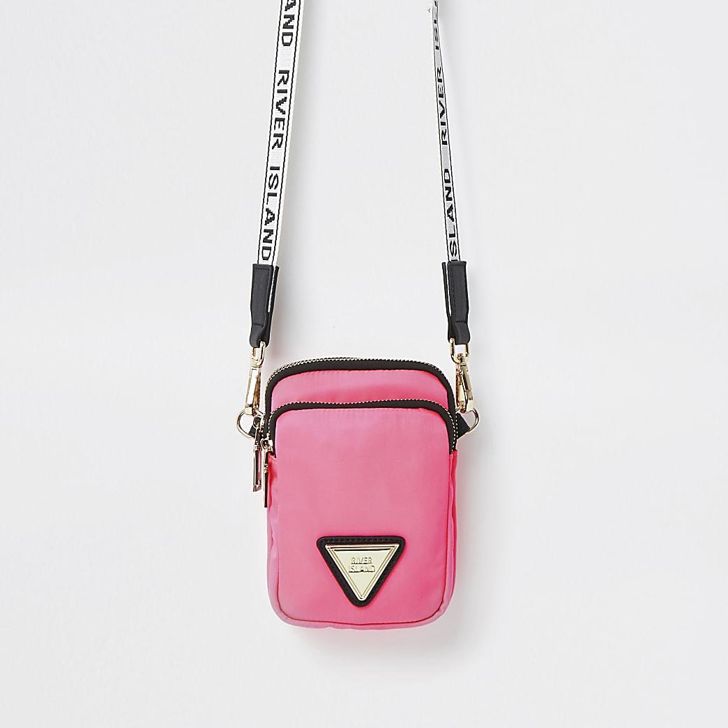 Pink mini cross body handbag
