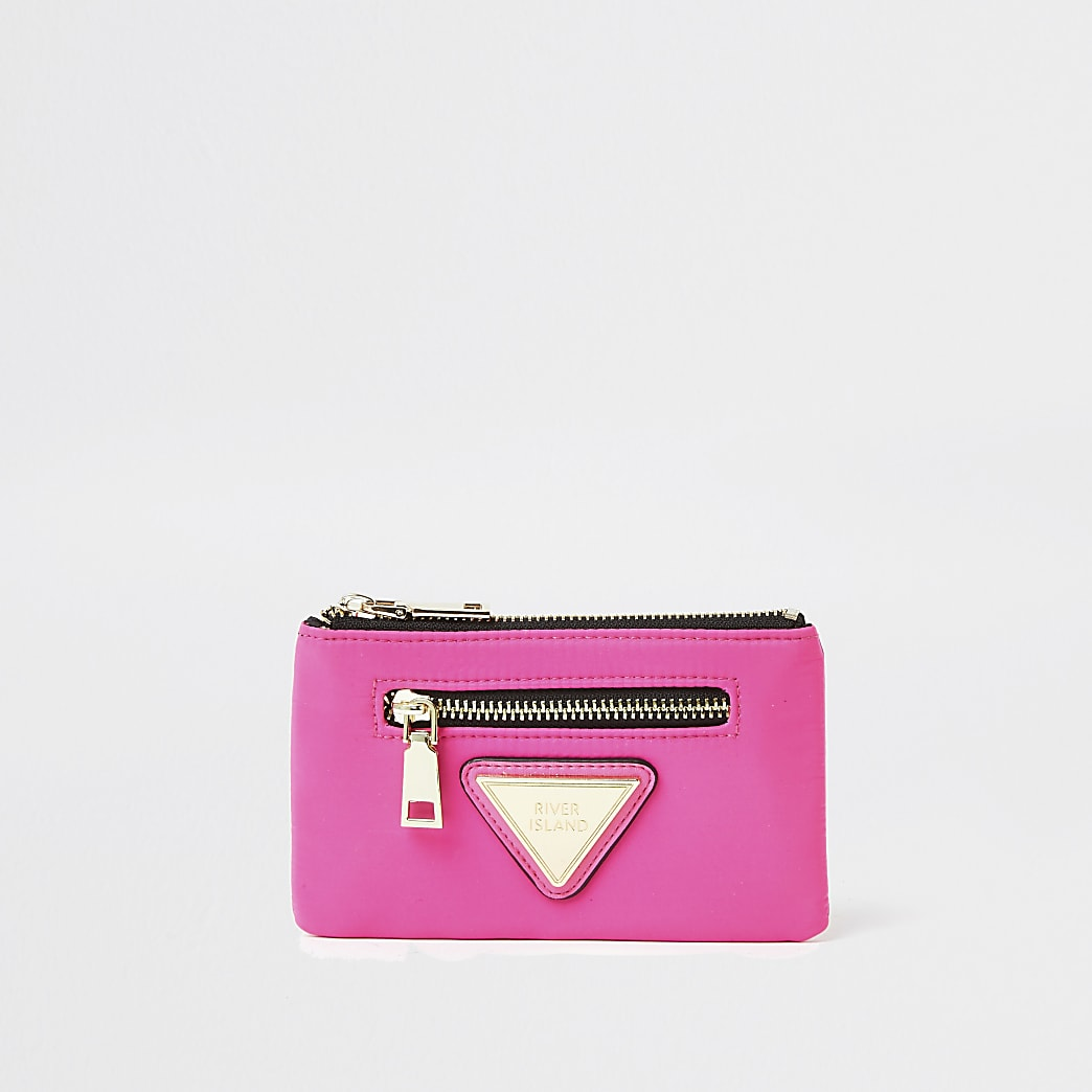 Pink mini zip pouch purse