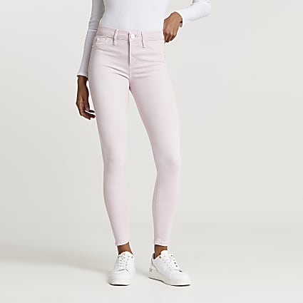 Pink Molly mid rise skinny jean