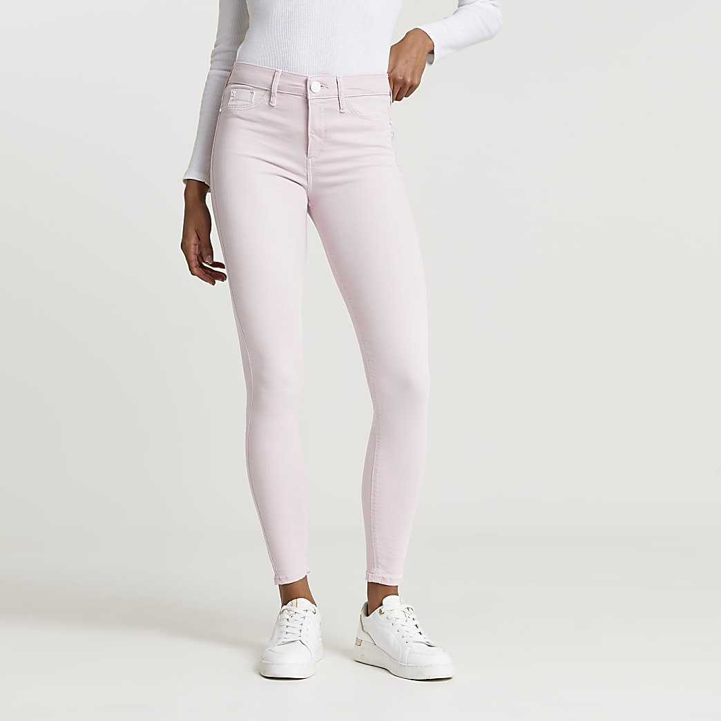 Pink Molly mid rise skinny jeans