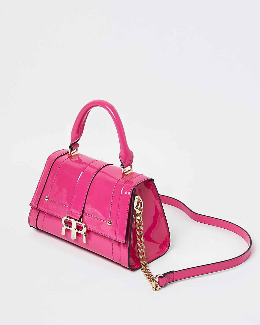 Pink neon mini tote bag
