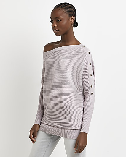 Pink off the shoulder jumper