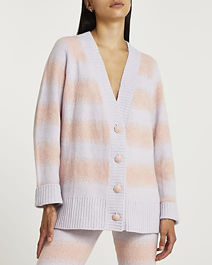 Pink ombre cardigan