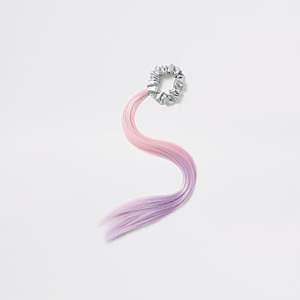 Pink ombre fake hair scrunchie