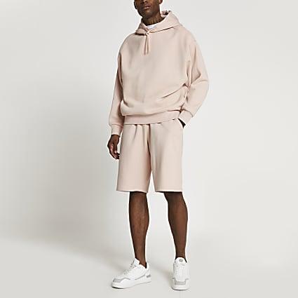 Pink oversized shorts