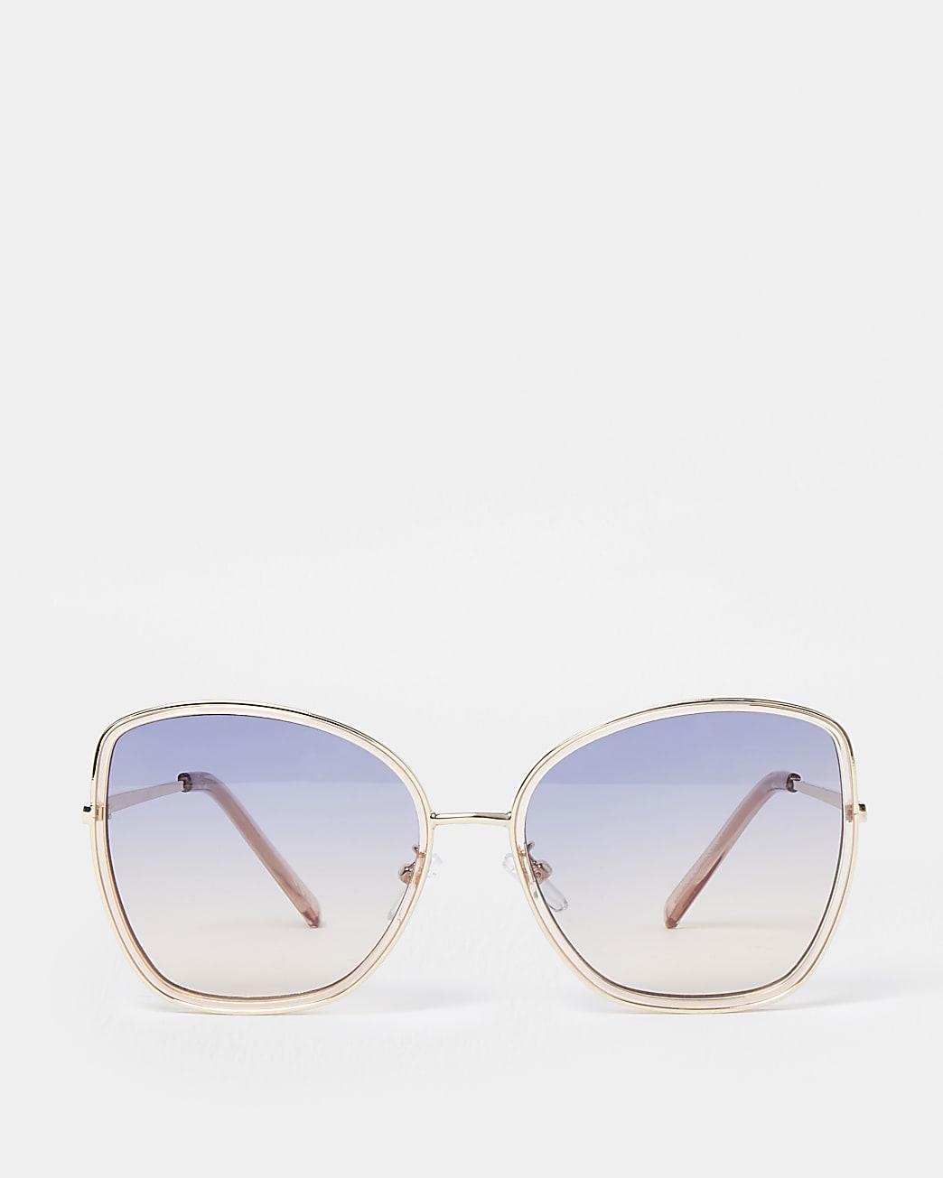 Pink oversized sunglass