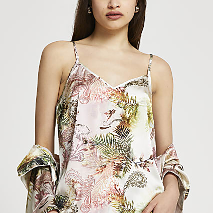 Pink paisley print pyjama top
