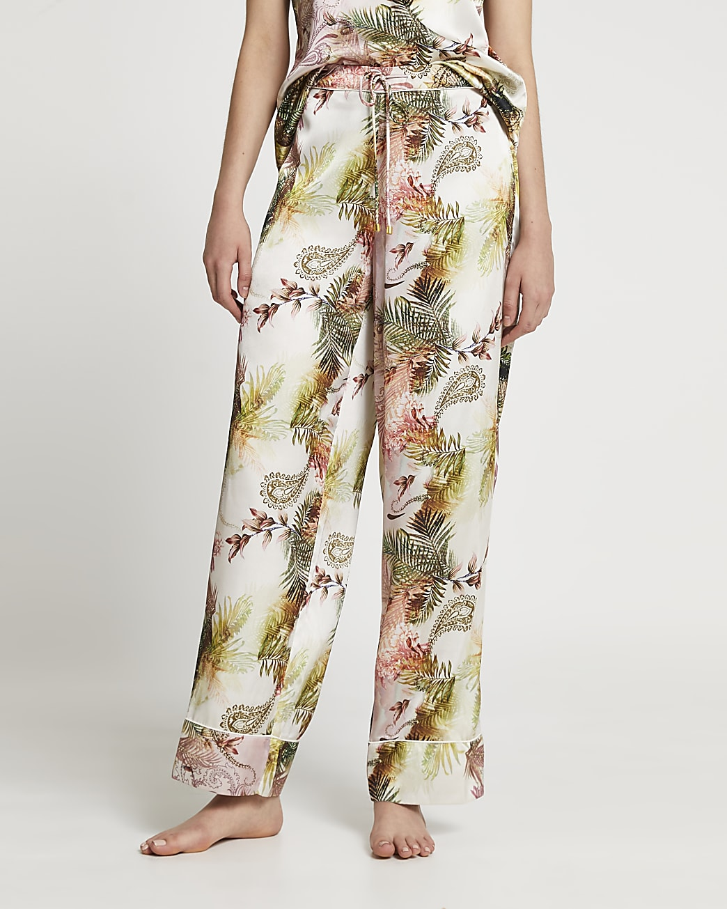 Pink paisley print pyjama trousers