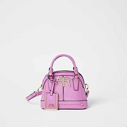 Pink patent RI mini tote bag