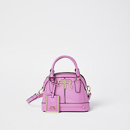 Pink patent RI mini tote bag