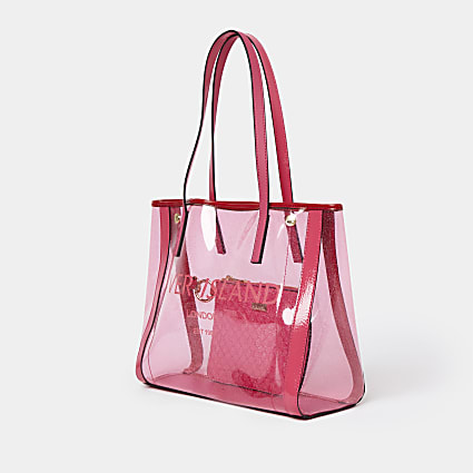 Pink perspex shopper bag