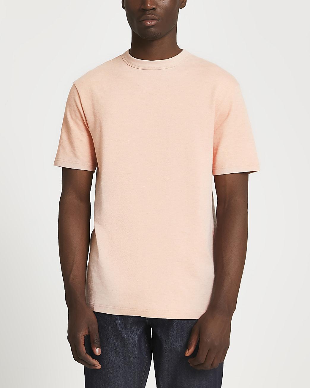 Pink premium essentials regular fit t-shirt