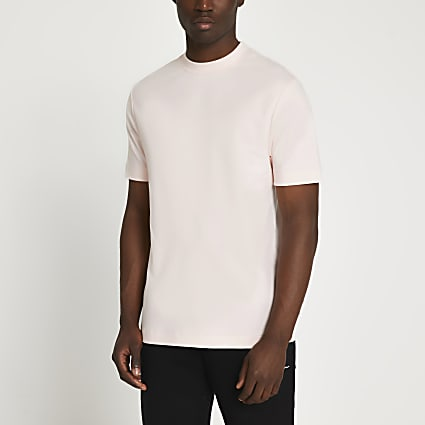 Pink premium slim fit t-shirt