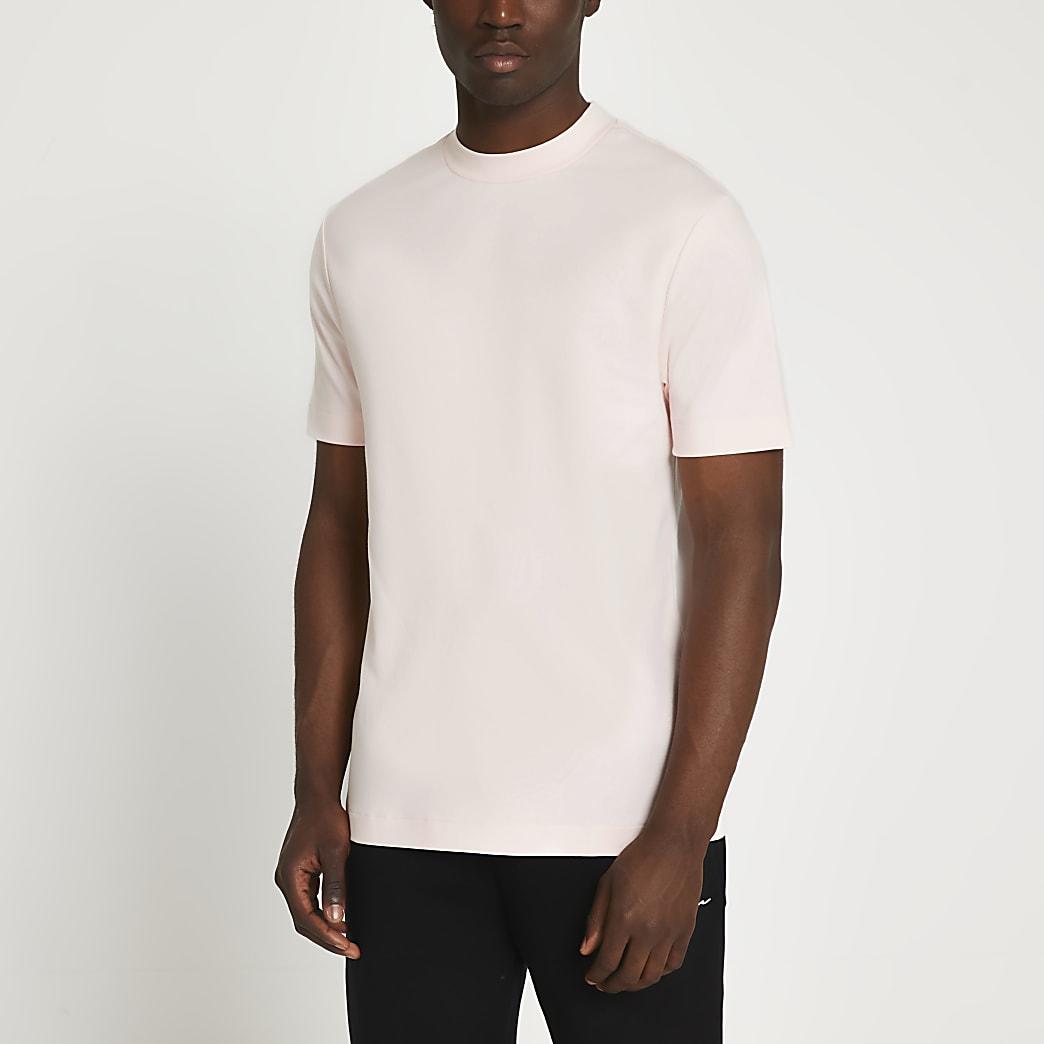 Pink premium slim fit t-shirt