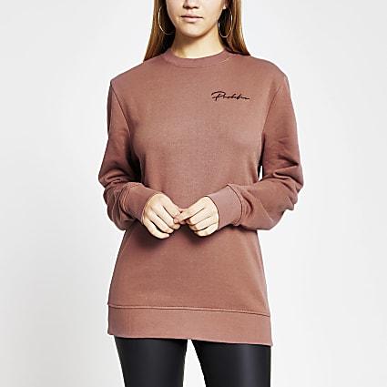 Pink Prolific long sleeve sweatshirt