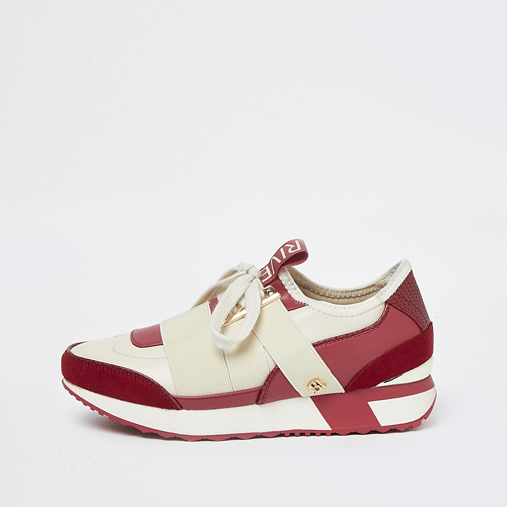 Pink pull on runner trainers