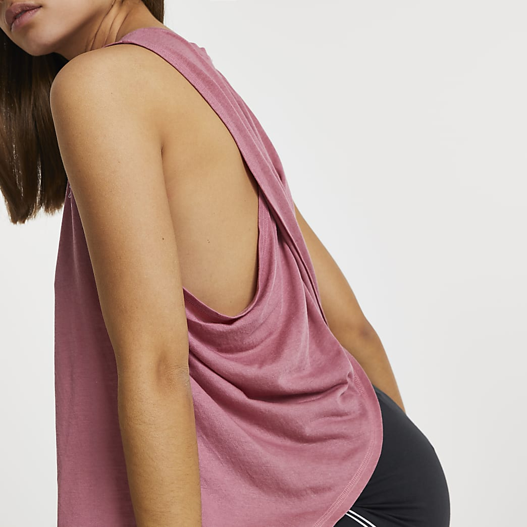 Pink RI Active cross back tank