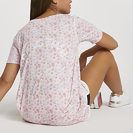 Pink RI Active floral boyfriend t-shirt