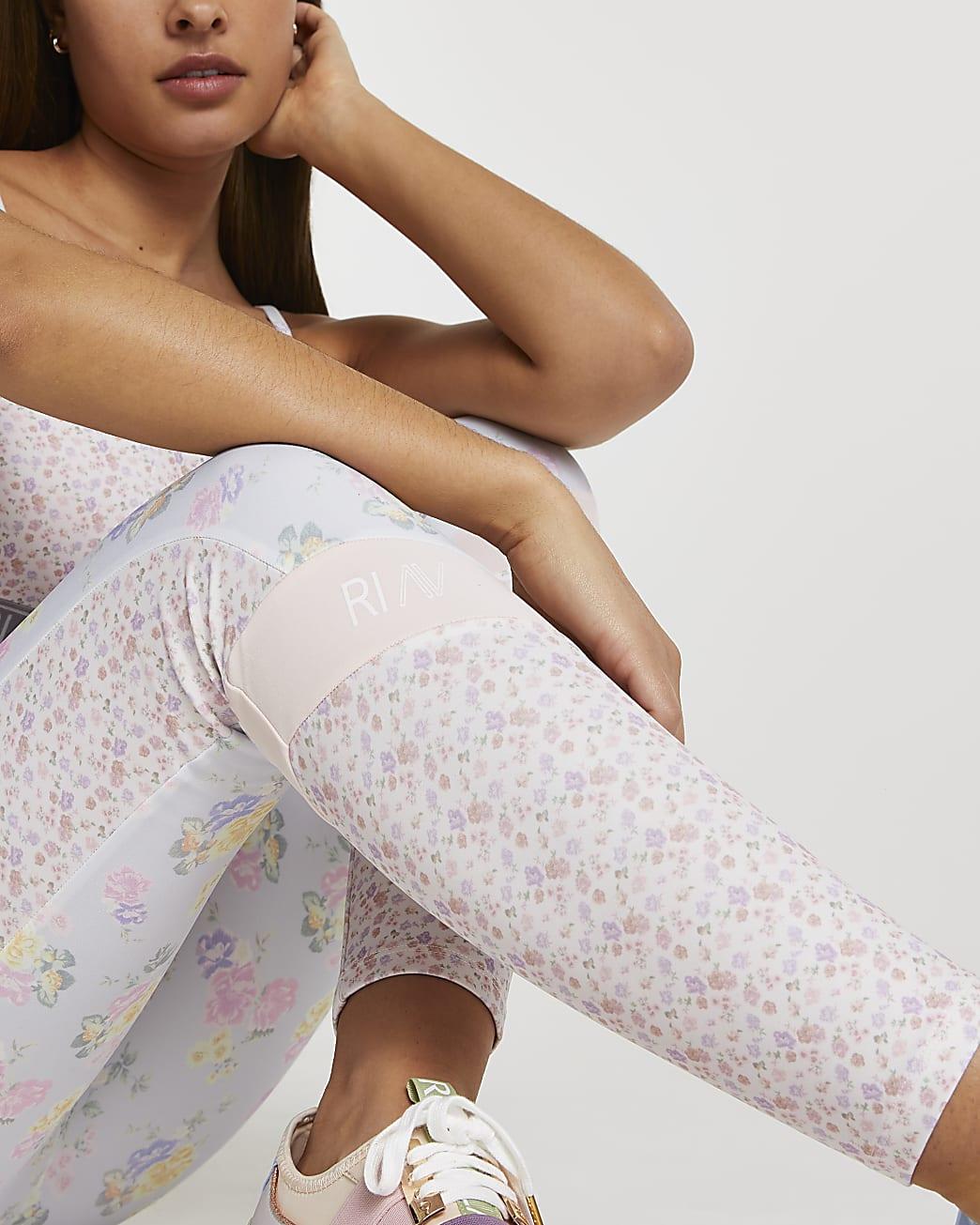 Pink RI Active floral leggings