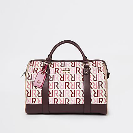 Pink RI branded barrel bag