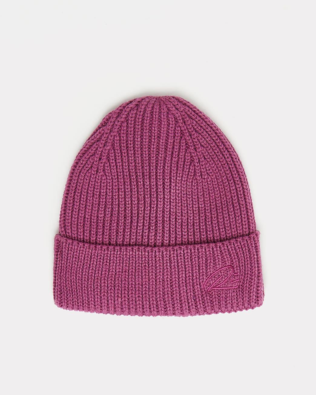 Pink RI branded docker beanie hat