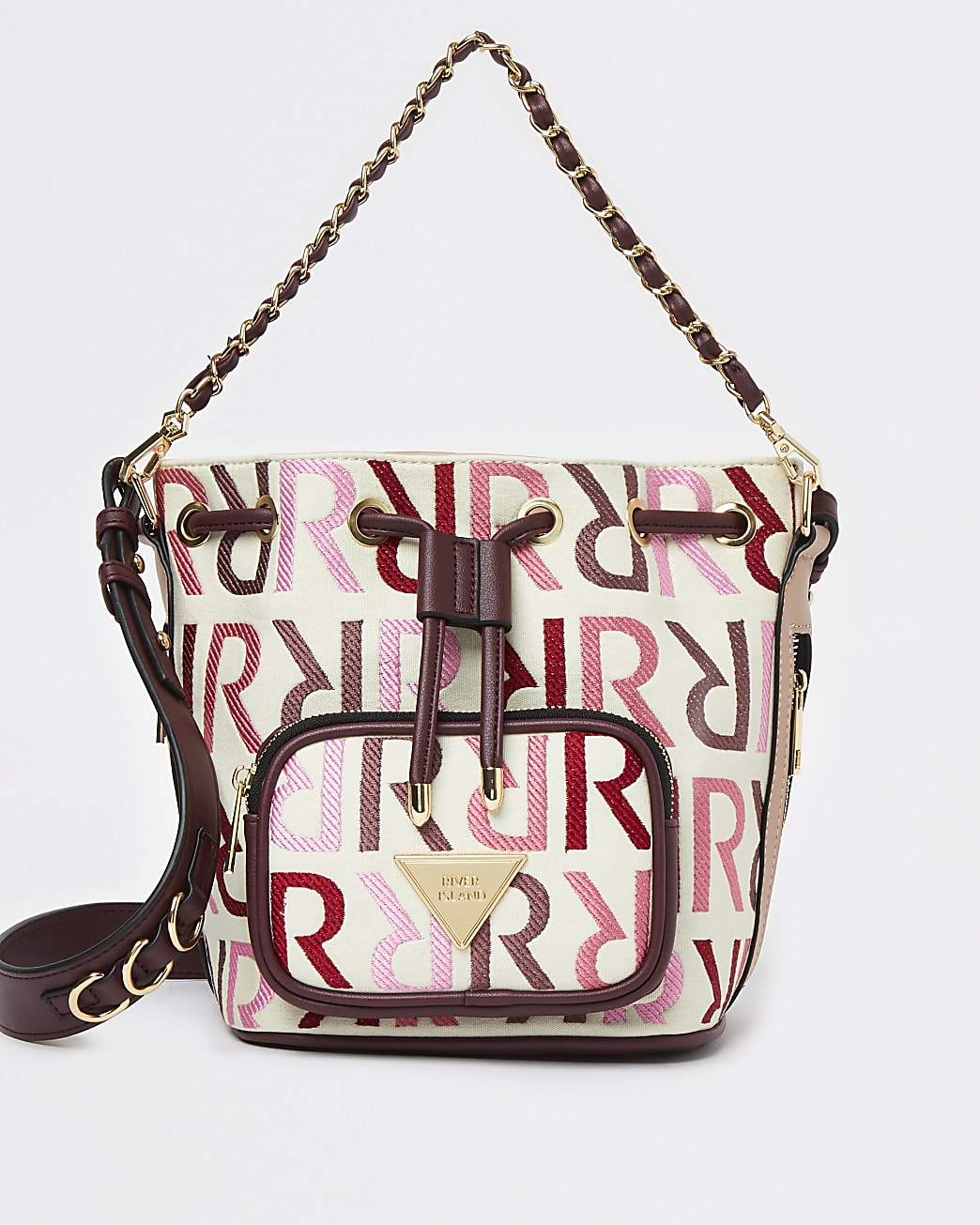 Pink RI branded duffle bag