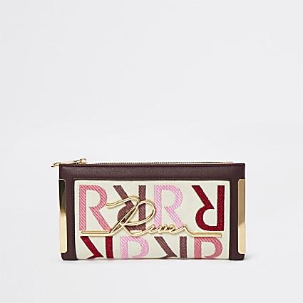 Pink RI branded purse