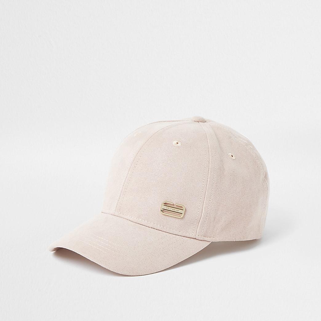 Pink RI branded suedette cap