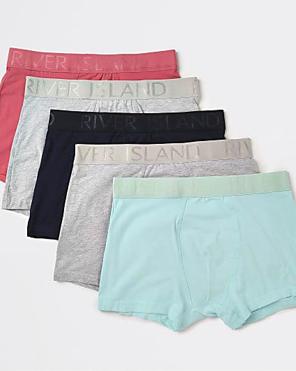 Pink RI branded trunks 5 pack