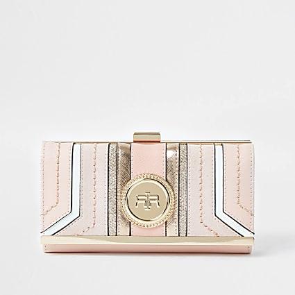Pink RI coin clip top purse