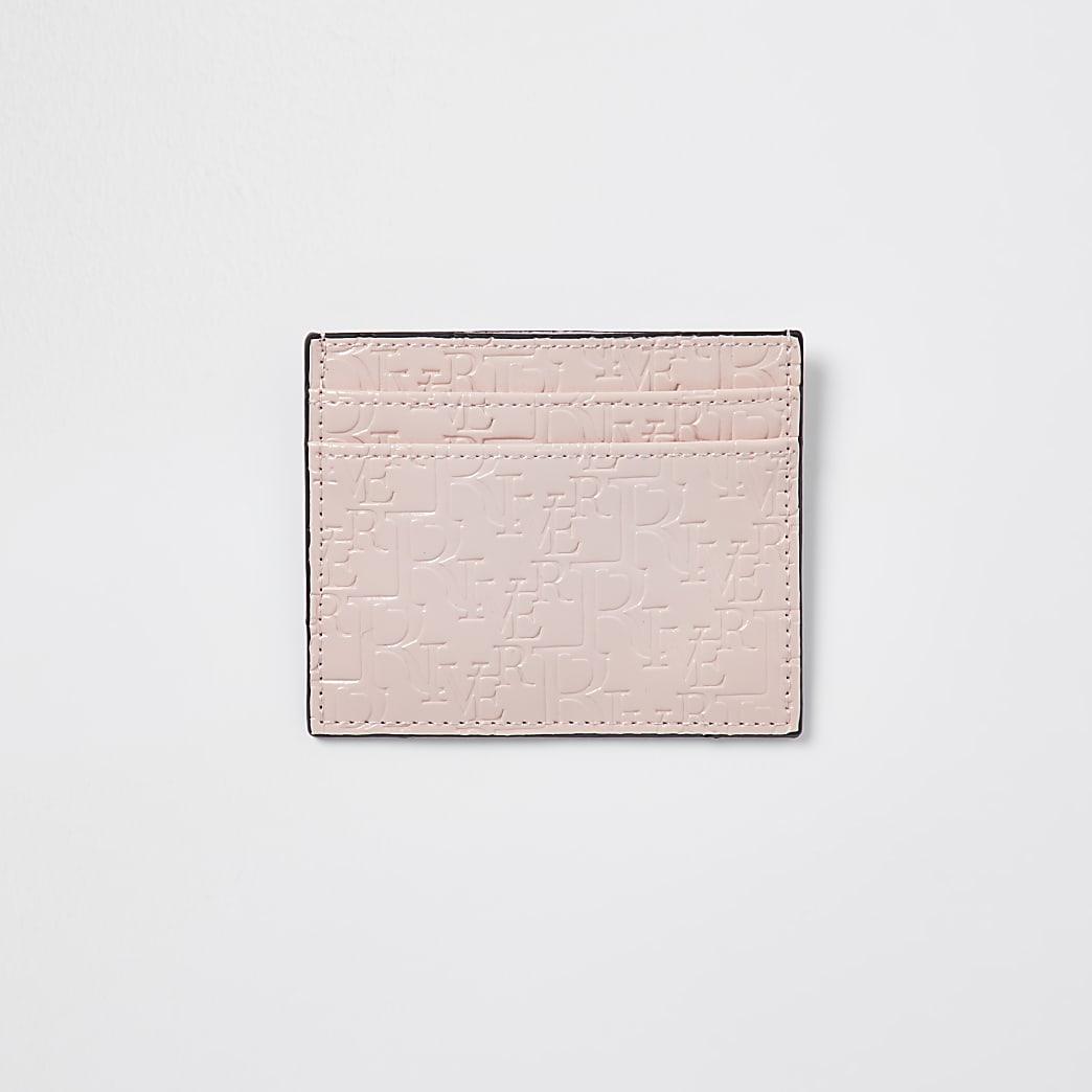 Pink RI embossed cardholder