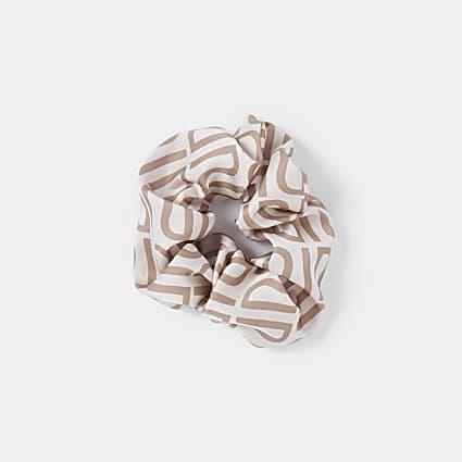 Pink RI hair scrunchie
