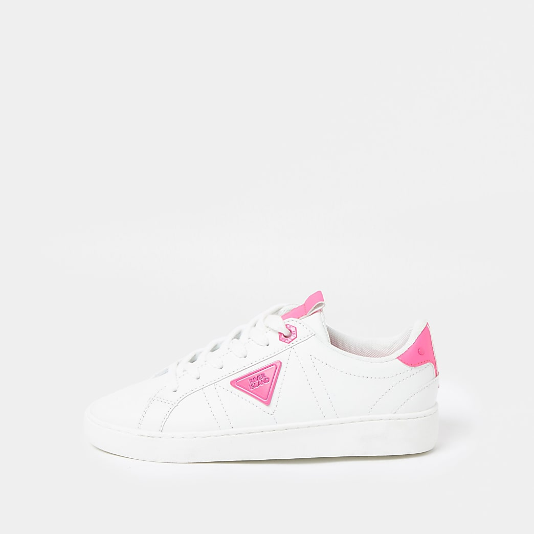 Pink RI lace up trainers