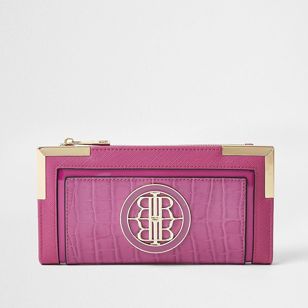 Pink RI logo metal corner purse