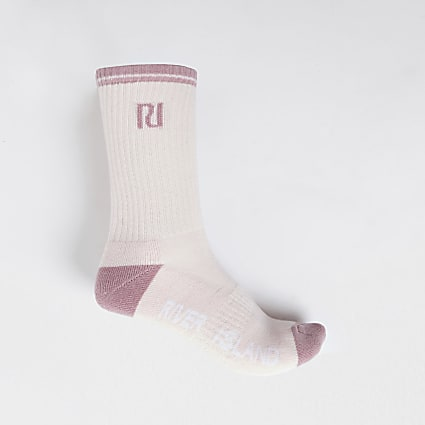 Pink RI logo tube sports sock