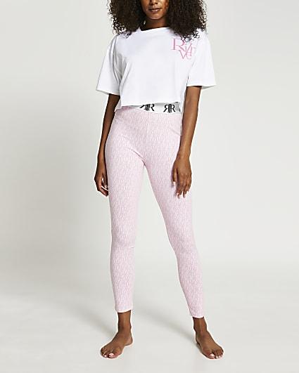 Pink RI monogram pyjama set