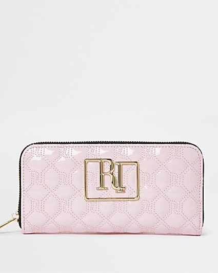 Pink RI monogrammed quilted purse