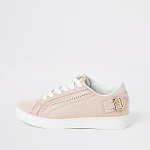 RI – Perforierte Sneaker in Rosa zum Schnüren