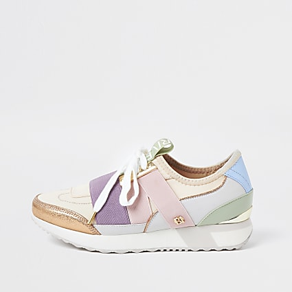 Pink RI pull on runner trainers