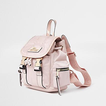 Pink RI satin backpack