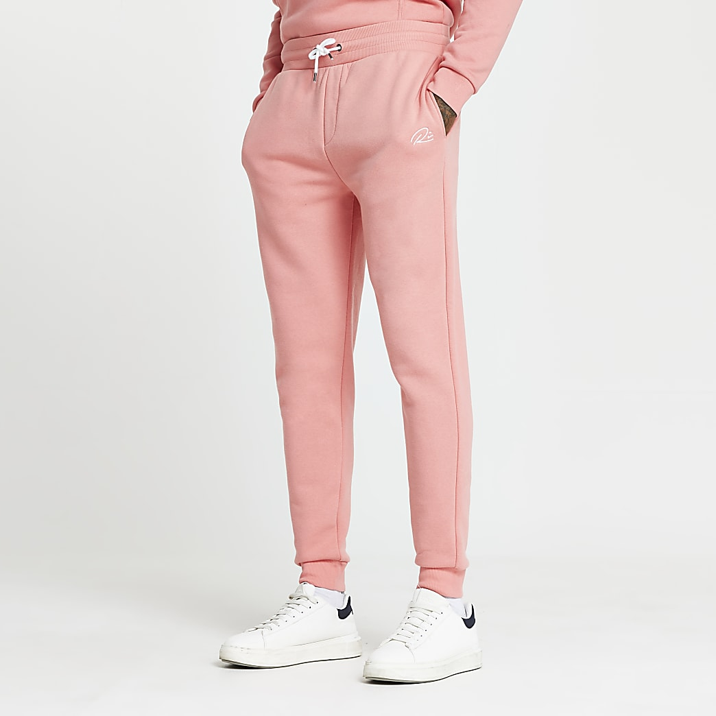 Pink RI slim fit joggers