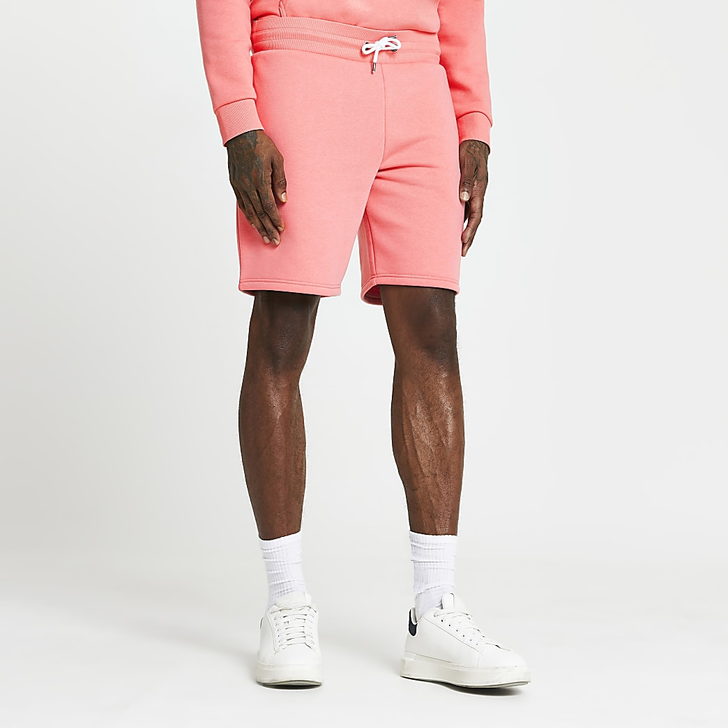 Pink RI slim fit shorts