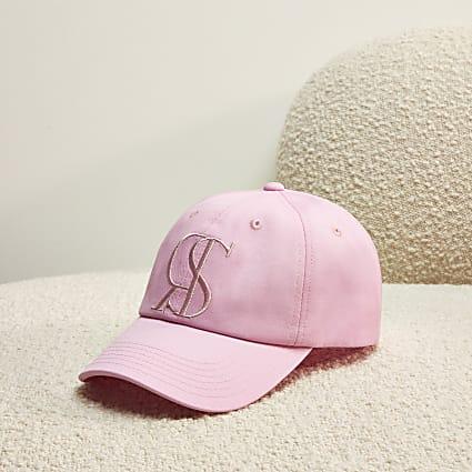 Pink RI Studio embroidered sun cap