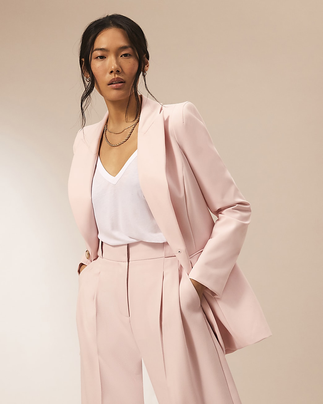 Pink RI Studio fitted blazer